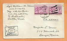 WORLD WAR II MILITARY MAIL APO 942 JUL 1943 CENSORED AIR FORCE