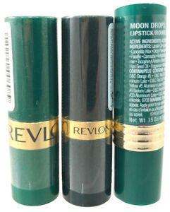 (3) Revlon Moon Drops Lipstick Unsealed FLAWED Creme 712 - Hot Coral
