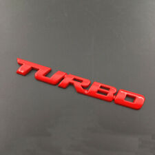 3D TURBO Letter Sticker Metal Emblem Badge Auto Car Styling Decal Logo Red NEW