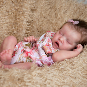 "17"" Reborn Baby Dolls Full Body Silicone Vinyl Newborn Babies Toy Girl Doll FREE"