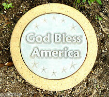 Gostatue God Bless America stepping stone concrete plaster mold mould
