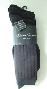 4 Pairs KENNETH COLE NY Modal Black Dress Socks Mens Size OSFA NWT  NEW