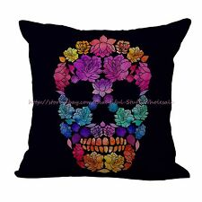 Day of the Dead Sugar Skull cushion cover decorative pillow case covers