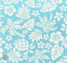 100% Cotton Poplin Fabric Rose & Hubble Tropical Hawaii Palm Tree Floral