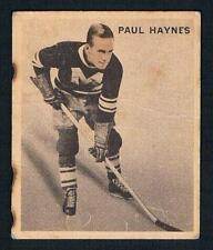 1933-34 V357 Ice Kings Montreal Maroons Hockey Card #6 Paul Haynes RC