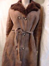 PUR VINTAGE 70  MANTEAU en cuir PEAU LAINEE    SHEEPSKIN COAT 38/40