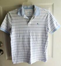 Express Polo, Classic Fit, Rugby, Golf Shirt, Small, Light Blue Stripe