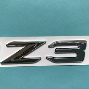 Trunk Lid Rear Emblem Badge Chrome Letters Z3 FOR E36/7 Roadster,E36/8 Coupe