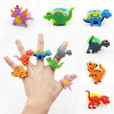2pcs Lovely Dinosaur Finger Ring PVC Soft Cartoon Cute Rings Kids Toys Gift