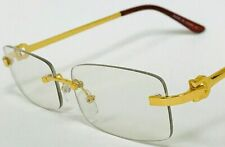 Men's Clear Glasses Small Hip-Hop Buffs Metal glasses Quavo Rimless Gold Frame