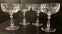 4 GORHAM CRYSTAL ROYAL TIVOLI Champagne/Tall Sherbet Glasses Original Labels