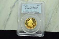 2007-W JEFFERSON'S LIBERTY $10 GOLD FIRST SPOUSE 1/2 OZ PCGS PR69 DCAM