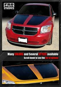Dodge Caliber 2007-2012  Hood Accent Stripes Decals (Choose Color)