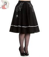 HELL BUNNY MISS MUFFET 50s style SPIDER WEB rockabilly SKIRT BLACK