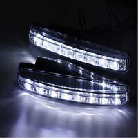 1pc 8 LED Car DRL Daytime Running Light Daylight Bulb Head Lamp Super Bright