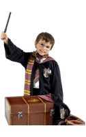 Kids Harry Potter Costume With Suitcase Gryffindor Robe Tie Scarf Wand Glasses