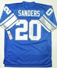 Barry Sanders Autographed Blue Nike Vintage Jersey - Beckett Auth *0