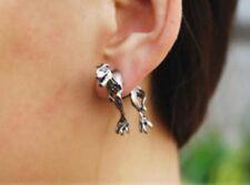 1x Dinosaur Ear Cuff Stud Earrings Sweep Wrap Dragon Silver Tone SLV ECF23