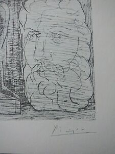 Pablo Picasso wonderful Vollard Suite lithograph 1956 hand signed