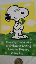 Snoopy St Patricks Day Patrick'S Day Card Greeting Shamrock Peanuts * Very Cute!