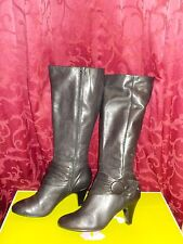 "NEW BLACK NATURALIZER LONG BOOTS BROMMSLY HEEL 3"" N5 COMFORT SIZE 8 COST $220"