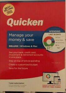 Quicken Deluxe 2021  W/ CD -WINDOWS & MAC  NEW IN BOX Free Ship