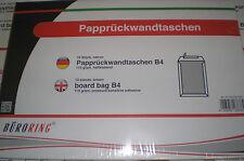 10 Pz Portaoggetti parete posteriore cartone B4 HK Bicarbonato di sodio marrone