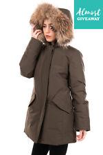 New ListingRrp €1010 Woolrich Down Parka Jacket Size L Detachable Raccoon Fur Trim Hooded