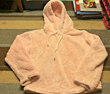 Hot Topic Pink Furry Juniors Hoodie Size M