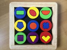 Janod Formen Sortierbrett Lernspiel Formen sortieren Sortierspiel Holz 22 Teile