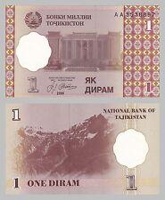 Le Tadjikistan/Tadjikistan 1 diram 1999 p10a unz.