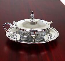 Käsedose Parmesandose Luxus Tisch Accessoir mit Deckel und Löffel Edel