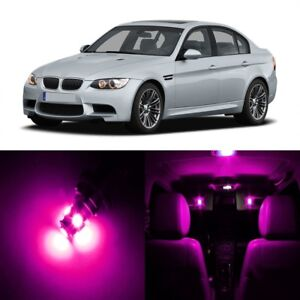16 x Pink LED Interior Light Package Kit For 2006 - 2011 BMW 3 Series M3 + TOOL