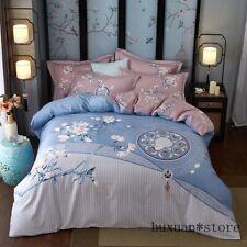 Bedding Cotton Set Bed Bohemia Duvet Cover Sheet Pillowcase 4pcs King Queen New