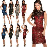SEXY NEW WOMEN CLUBBING PENCIL DRESS LADIES MIDI PARTY BLOUSE SIZE 8 10 12 TOP S