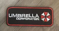 UMBRELLA CORPORATION Resident Evil Rectangle Logo Patch Movie Embroidered