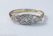 Diamond 9 Carat Ring Art Deco Fine Jewellery