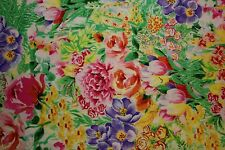 Garden Paradise Foil Print #41 Fabri-Quilt Quilting 100% Cotton Fabric BTHY