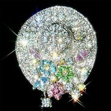 Swarovski Silver Plated Costume Brooches & Pins