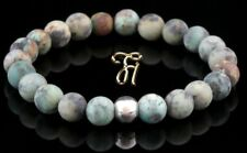 Afrik. Türkis 925er sterling Silber Armband Bracelet Perlenarmband grün