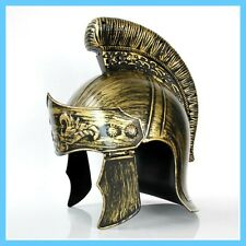 Gold Roman Gladiator Greek Soldier Warrior Helmet Plastic Party Costume Hat
