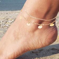 Fußkettchen Sie Weier Edelstahl Fuß Knöchel Armband Auf Die Bein Barfuß Knöchel Für Frauen Fuß Kette Schmuck Strand Gold Silber Blätter