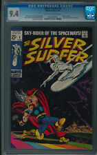 SILVER SURFER #4 CGC NM 9.4 Off-White to White Pages  Thor Battle Cover