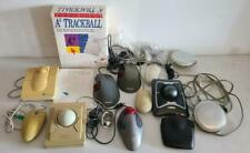 Computer Mouse LOT of 9X Kensington Apple  A3 trackball 2001 Mics Powerbook Reel
