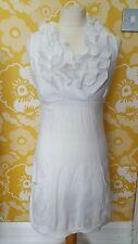 Womens  boho dress 10 retro white vintage style pin up rockabilly hippy 90's