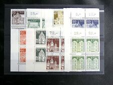 TIMBRES D'ALLEMAGNE : BERLIN 1967/69 YVERT N° 271 à 277A  BLOCS DE 4** cdf - TBE