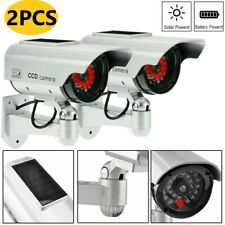 More details for 2x solar power dummy fake security camera blinking led outdoor surveillance cctv