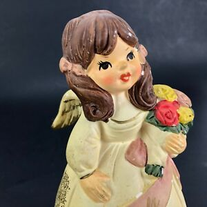 VTG 70s Angela Angel Music Box Figural Figure Statue Ceramic Japan AS IS CM Inc.