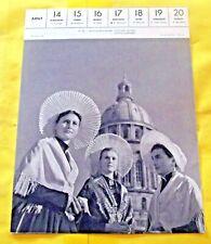 1955 Boulogne-sur-mer, Costumes de fêtes Coiffes Régional Architecture
