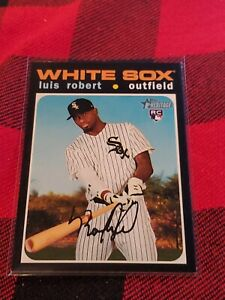 2020 Topps Heritage High Number #512 Luis Robert RC Rookie White Sox